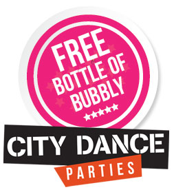 Free bottle of bubbly logo