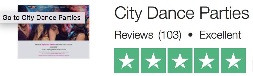 city dance parties Trustpilot