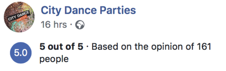 city dance parties facebook