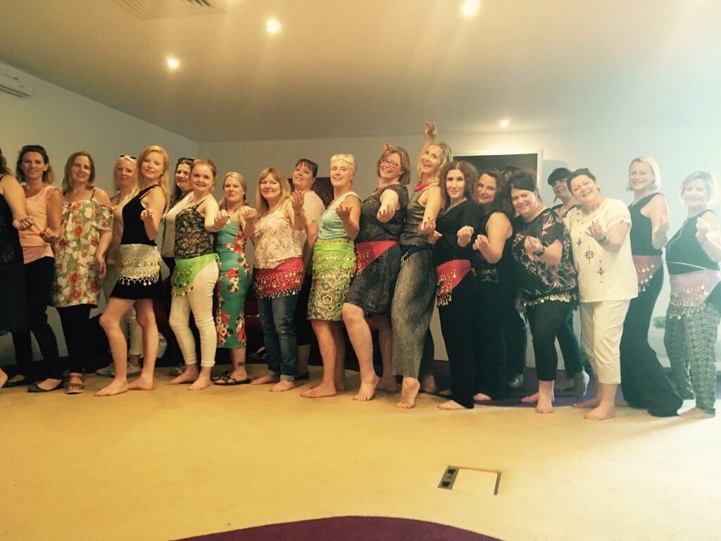 belly dance hen party dance class