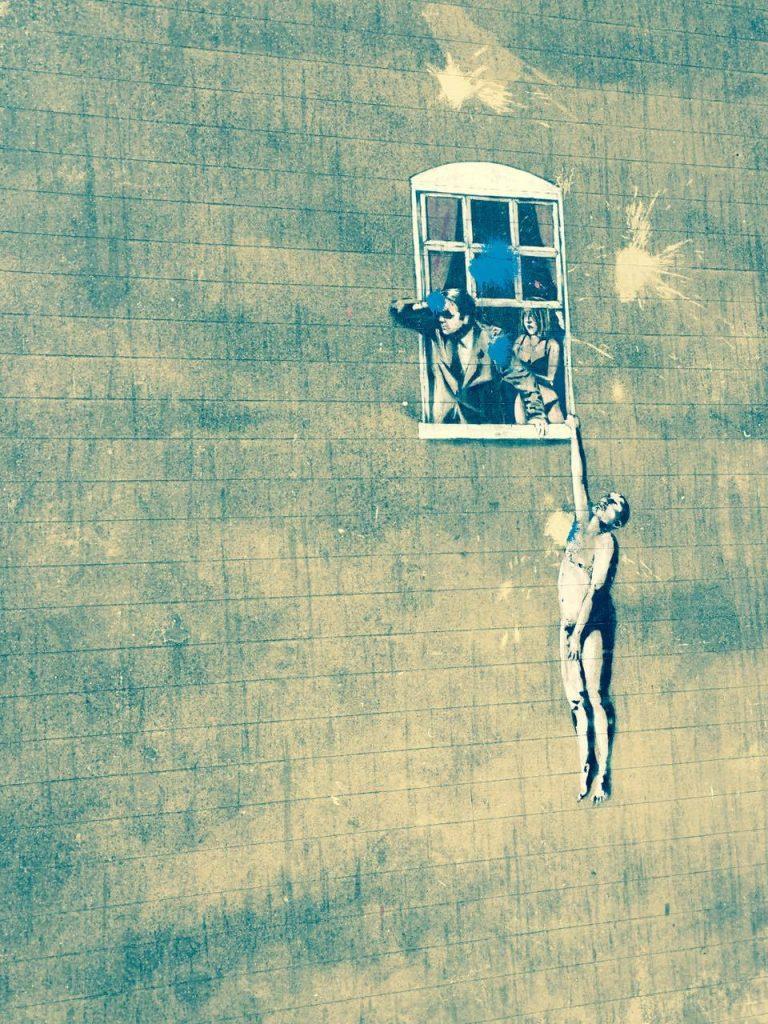 Banksy on Park Street Bristol